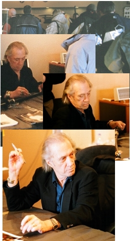 David Carradine signing autographes for our customers and his fans