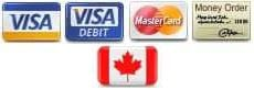 Reliks accepts Visa, Visa Debit, Mastercard and Money Orders
