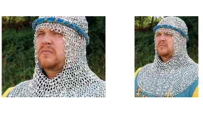 Riveted Aluminum Chainmail Coif - 300150 - Windlass Steelcrafts