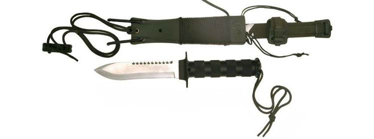Survival Knife w/ Slingshot - HK56105 -