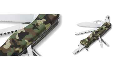 Camouflage One Hand Trekker Knife Historical Reference