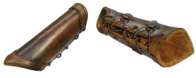 Plain Brown Leather Bracers