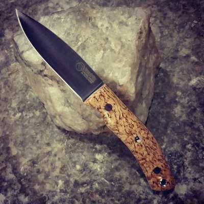 No.10 Stabilised Curly Birch Knife