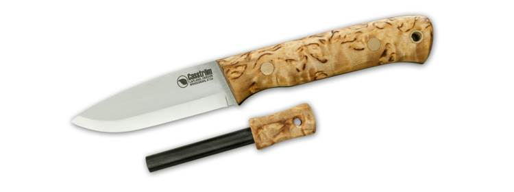 Curly Birch Woodsman Knife with Firesteel - KS10824 - Casstrom Sweden